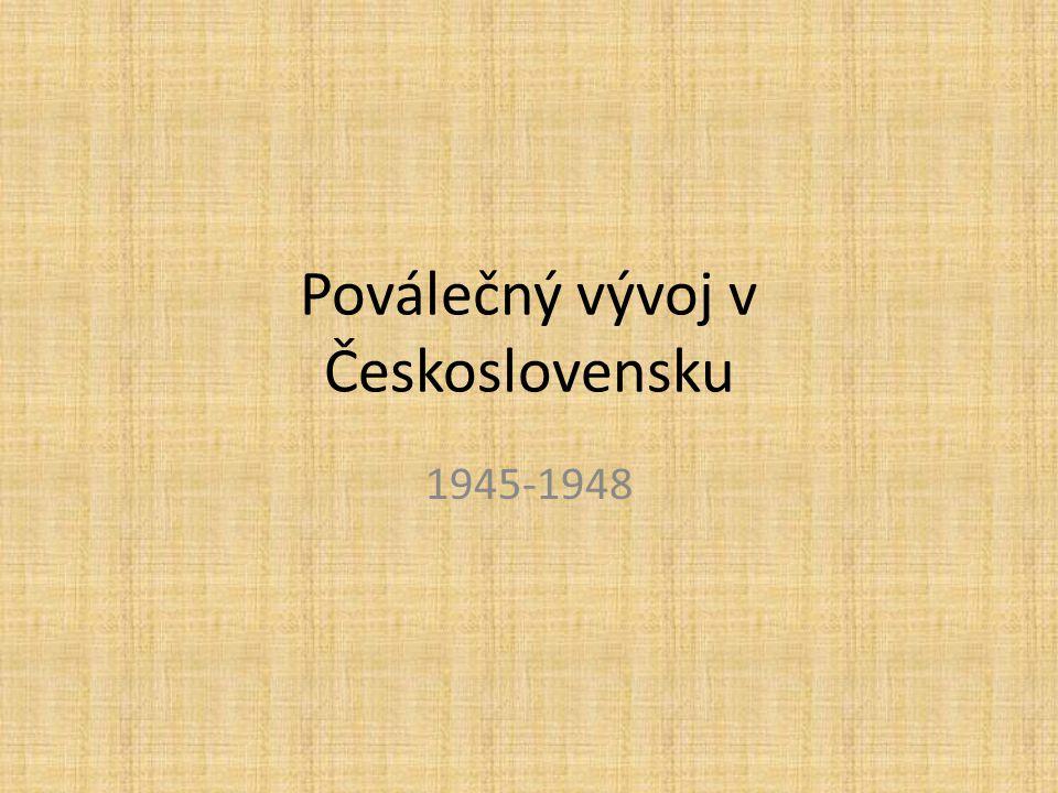 Poválečný vývoj v Československu