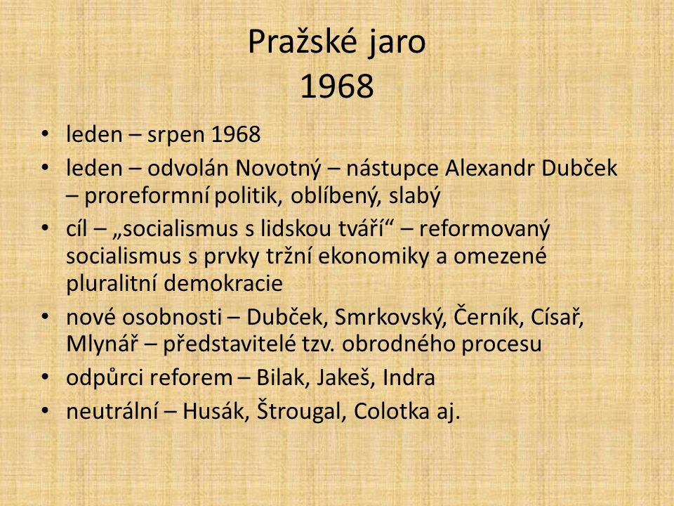 Pražské jaro 1968 leden – srpen 1968