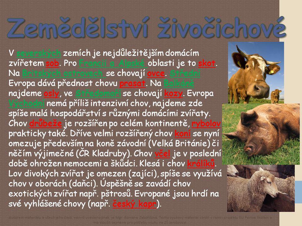 Zemědělství živočichové