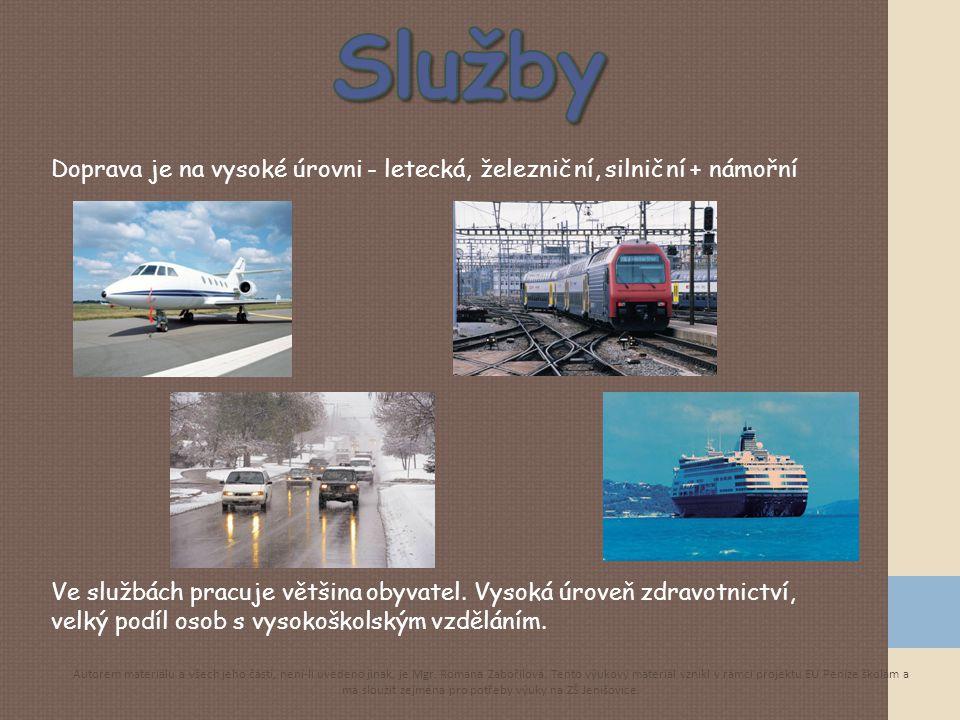 Služby Doprava je na vysoké úrovni - letecká, železniční, silniční + námořní. kliparty.