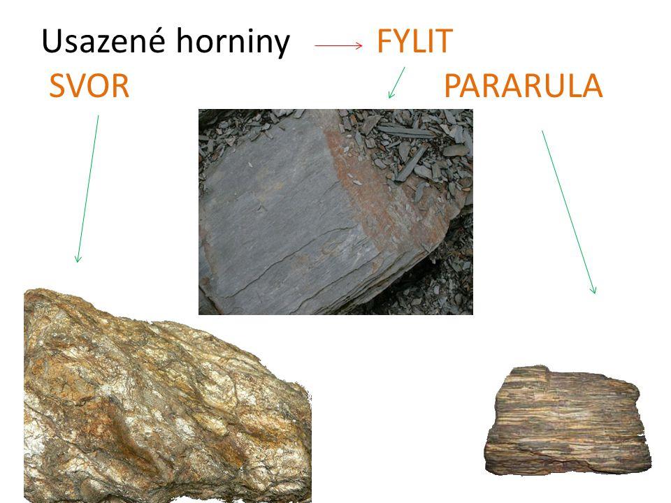 Usazené horniny FYLIT SVOR PARARULA