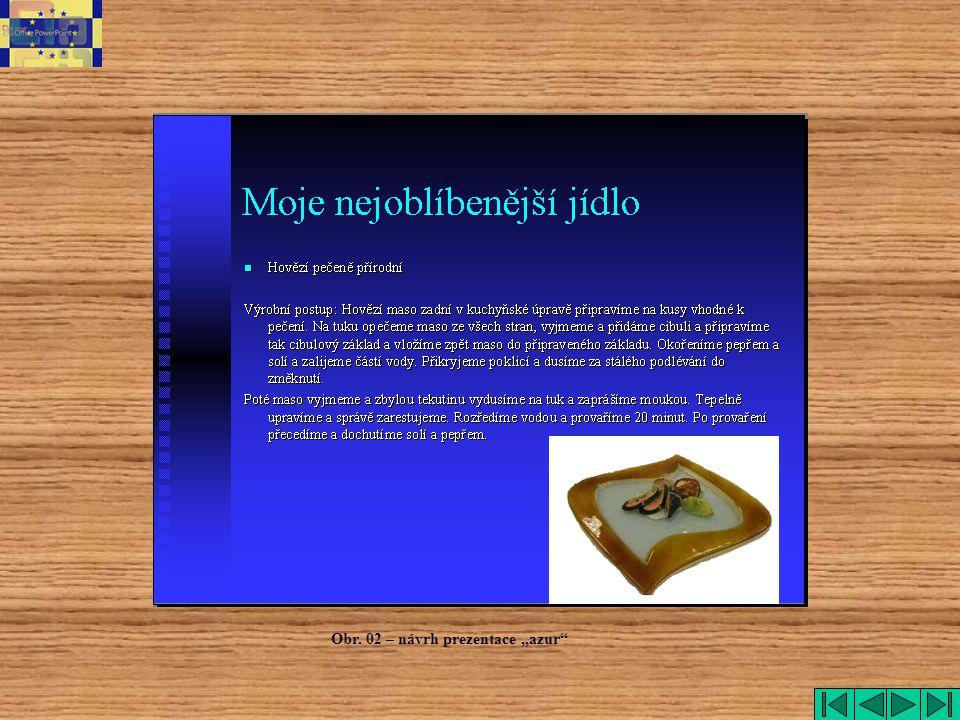 """azur Obr. 02 – návrh prezentace """"azur"""
