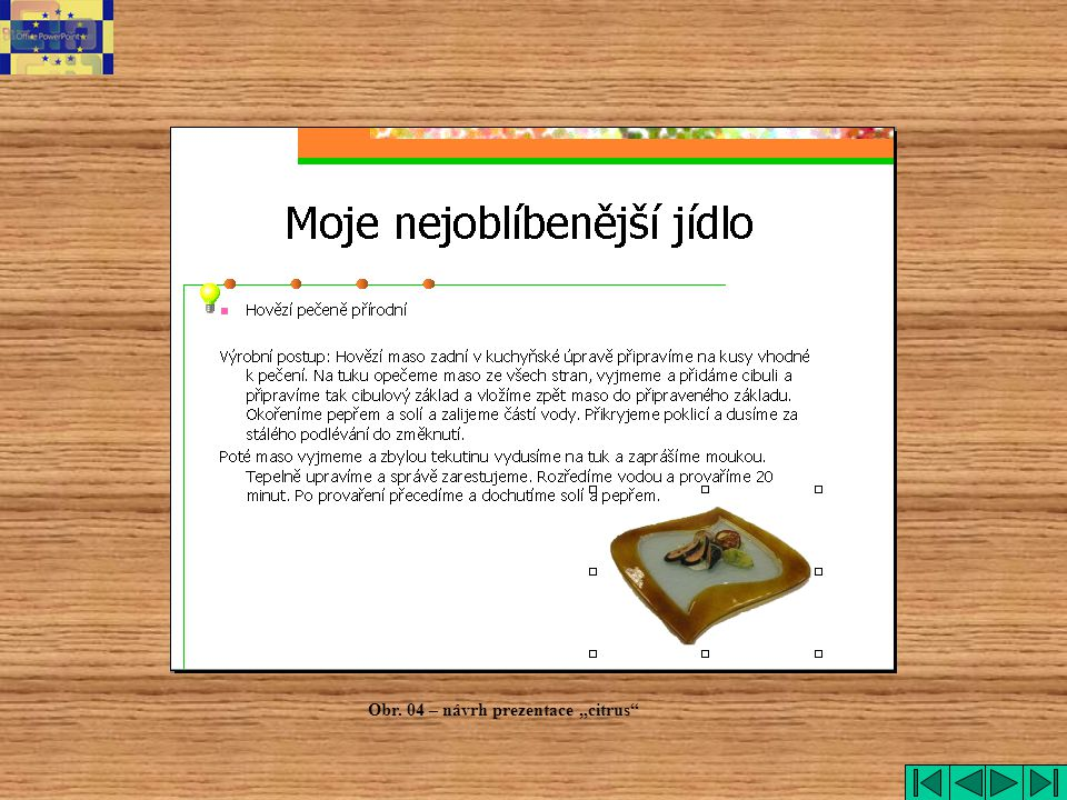 "citrus Obr. 04 – návrh prezentace ""citrus"
