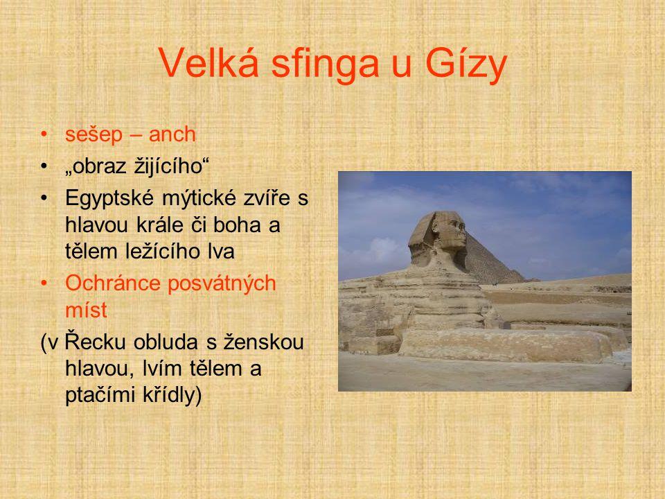 """Velká sfinga u Gízy sešep – anch """"obraz žijícího"""