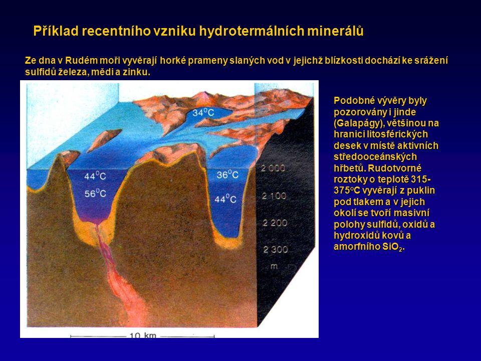 Příklad recentního vzniku hydrotermálních minerálů