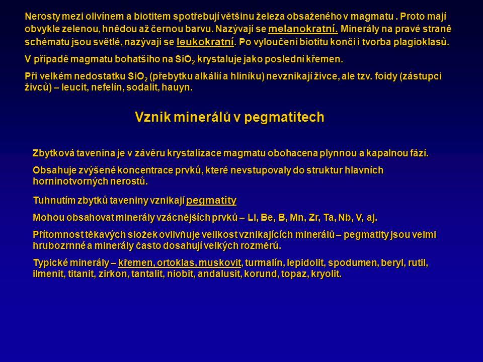 Vznik minerálů v pegmatitech