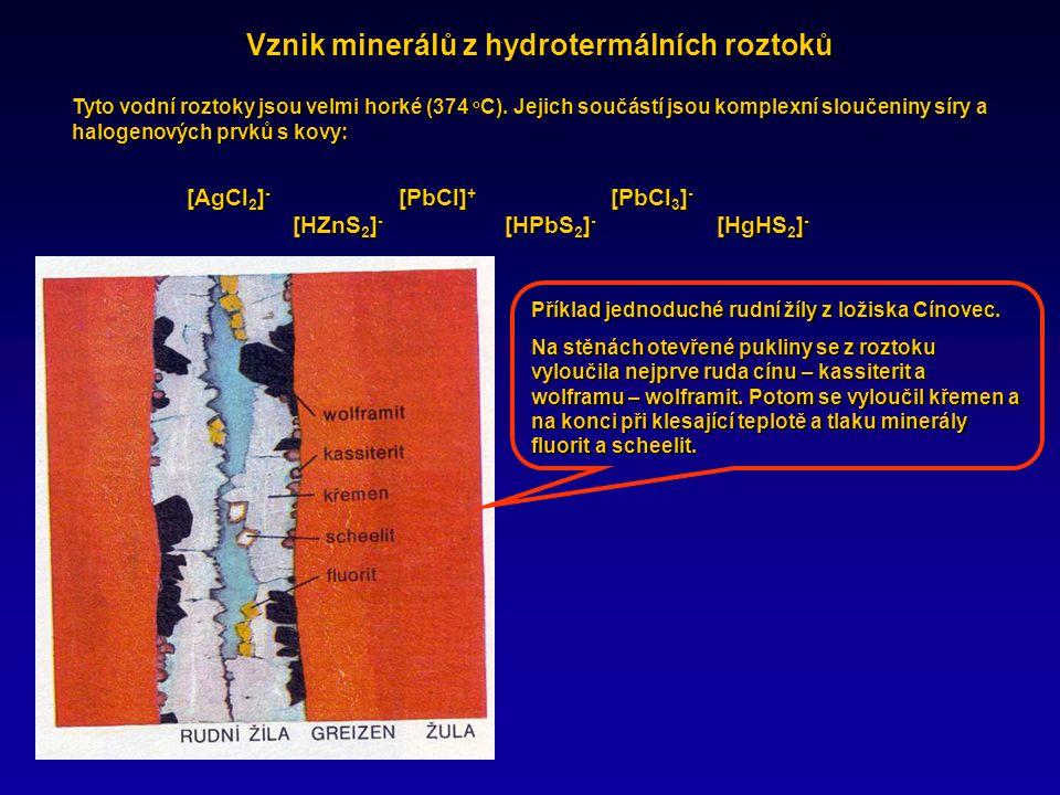 Vznik minerálů z hydrotermálních roztoků