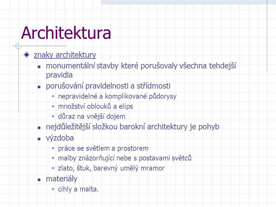 Architektura znaky architektury
