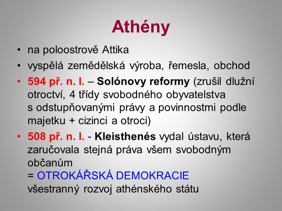Athény na poloostrově Attika