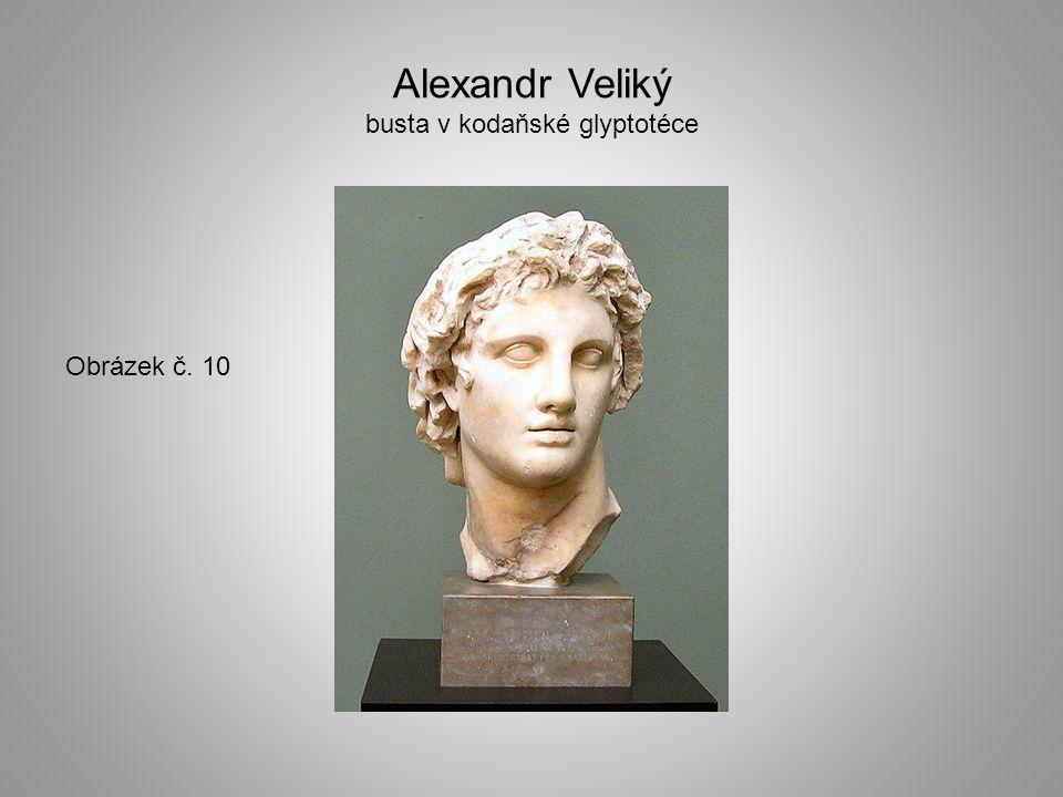 Alexandr Veliký busta v kodaňské glyptotéce