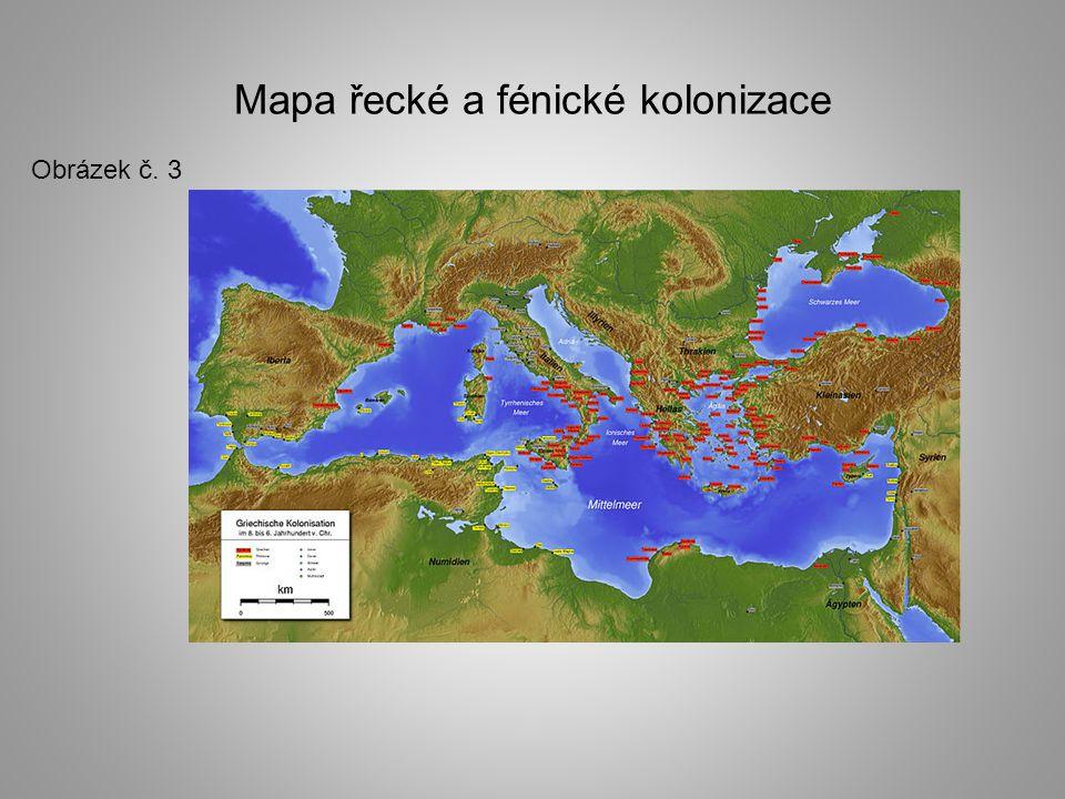 Mapa řecké a fénické kolonizace
