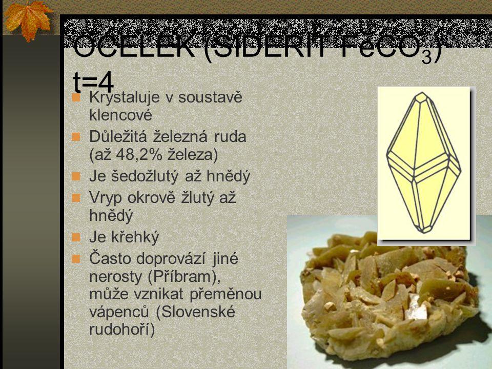 OCELEK (SIDERIT FeCO3) t=4