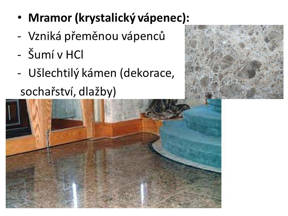 Mramor (krystalický vápenec):