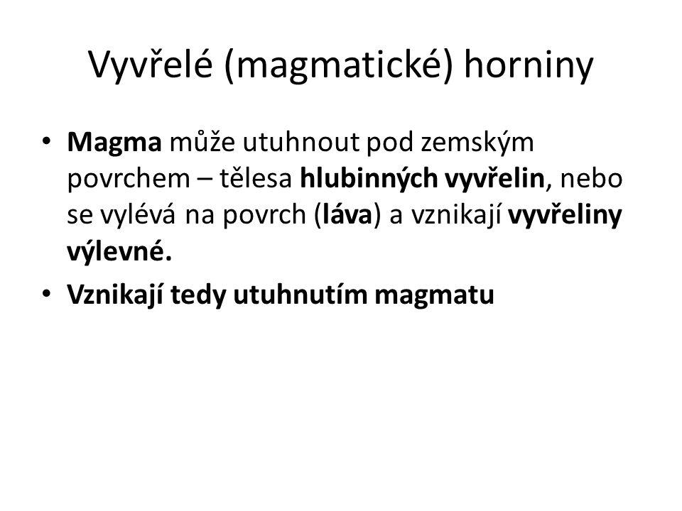 Vyvřelé (magmatické) horniny
