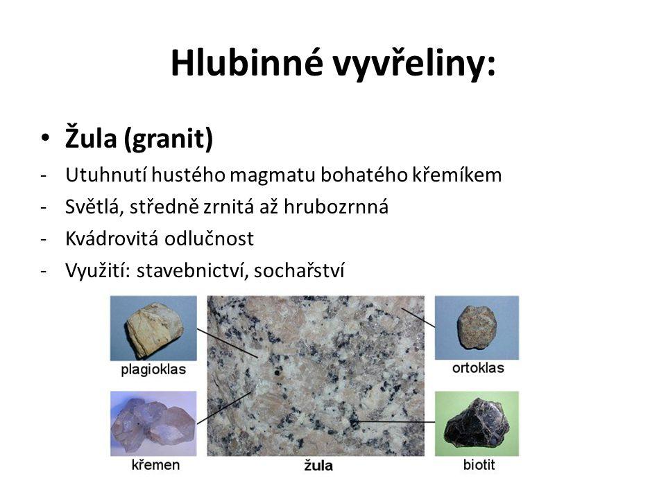 Hlubinné vyvřeliny: Žula (granit)