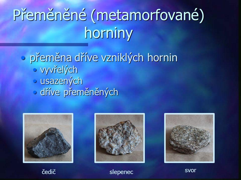 Přeměněné (metamorfované) horniny