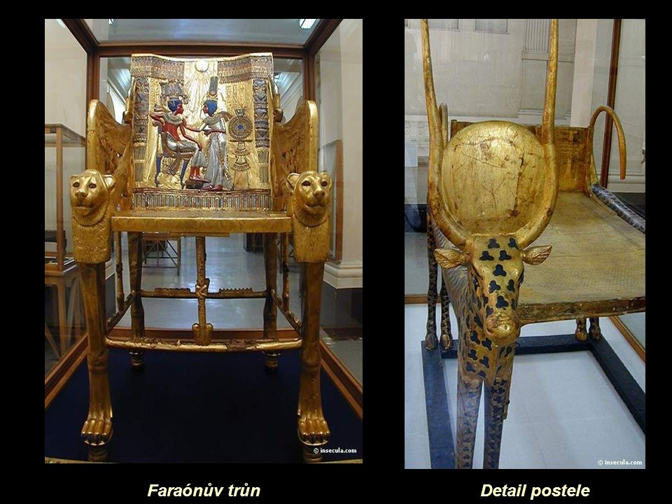 Faraónův trůn Detail postele