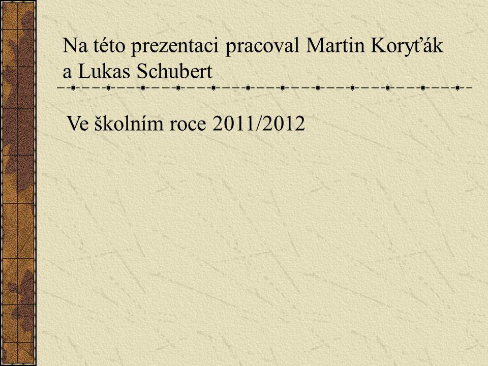 Na této prezentaci pracoval Martin Koryťák a Lukas Schubert