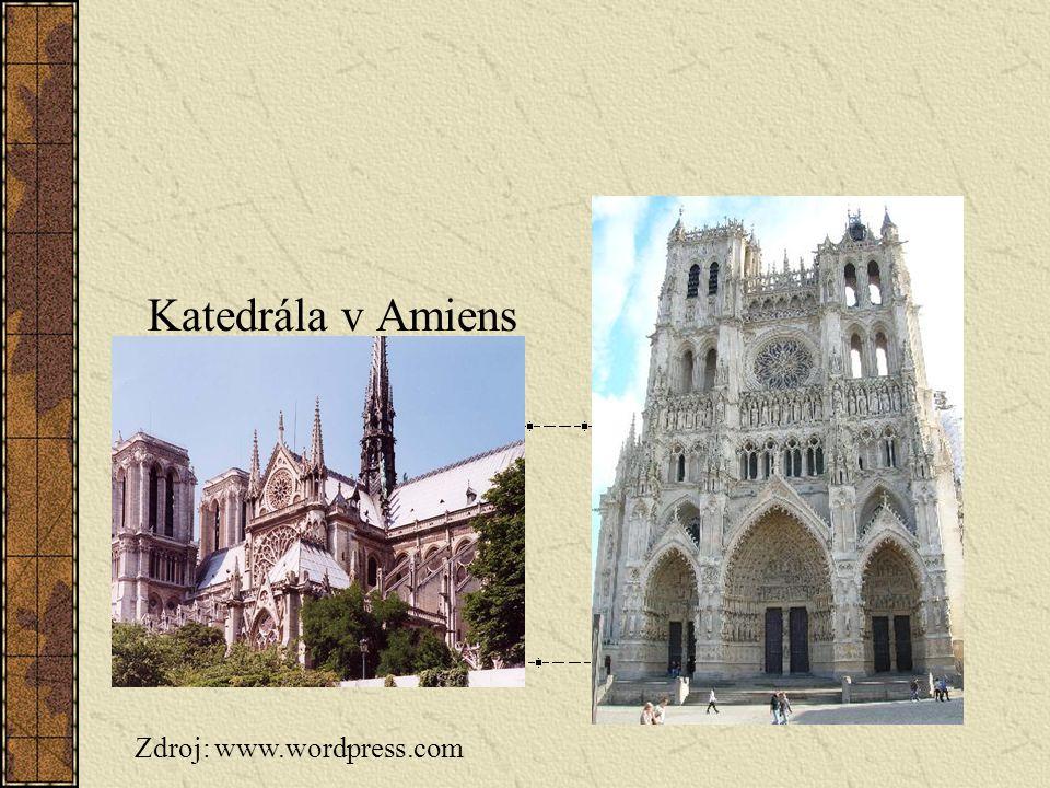 Katedrála v Amiens Zdroj: www.wordpress.com