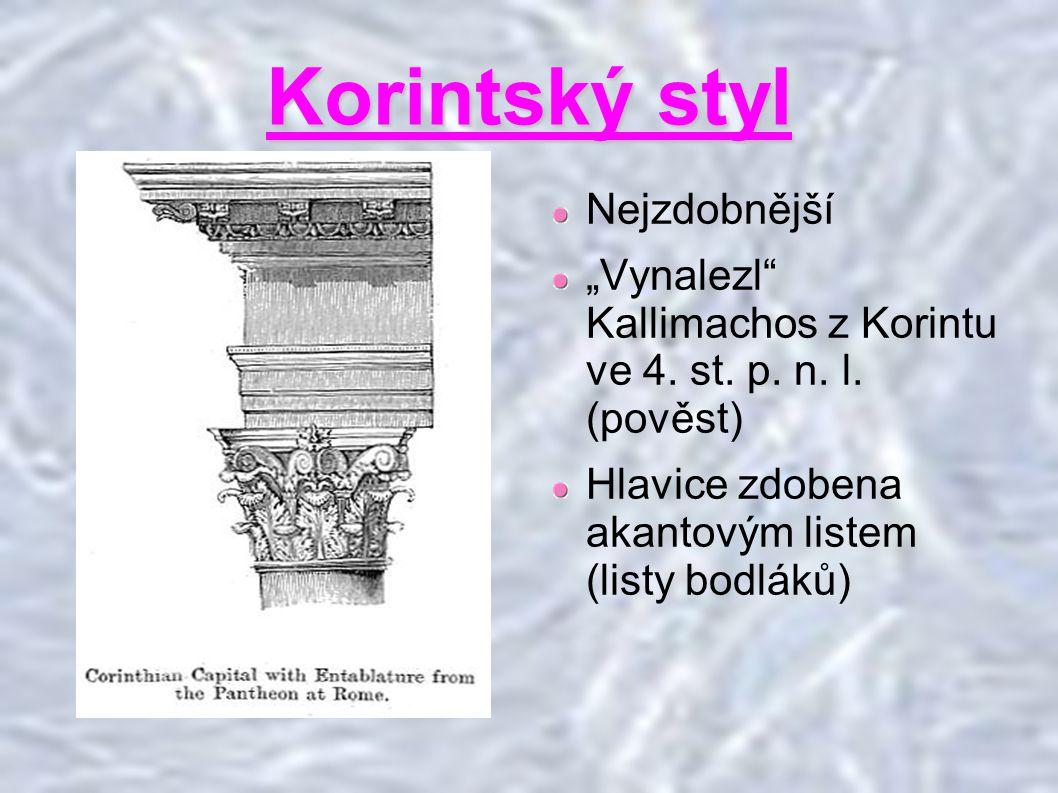 Korintský styl Nejzdobnější