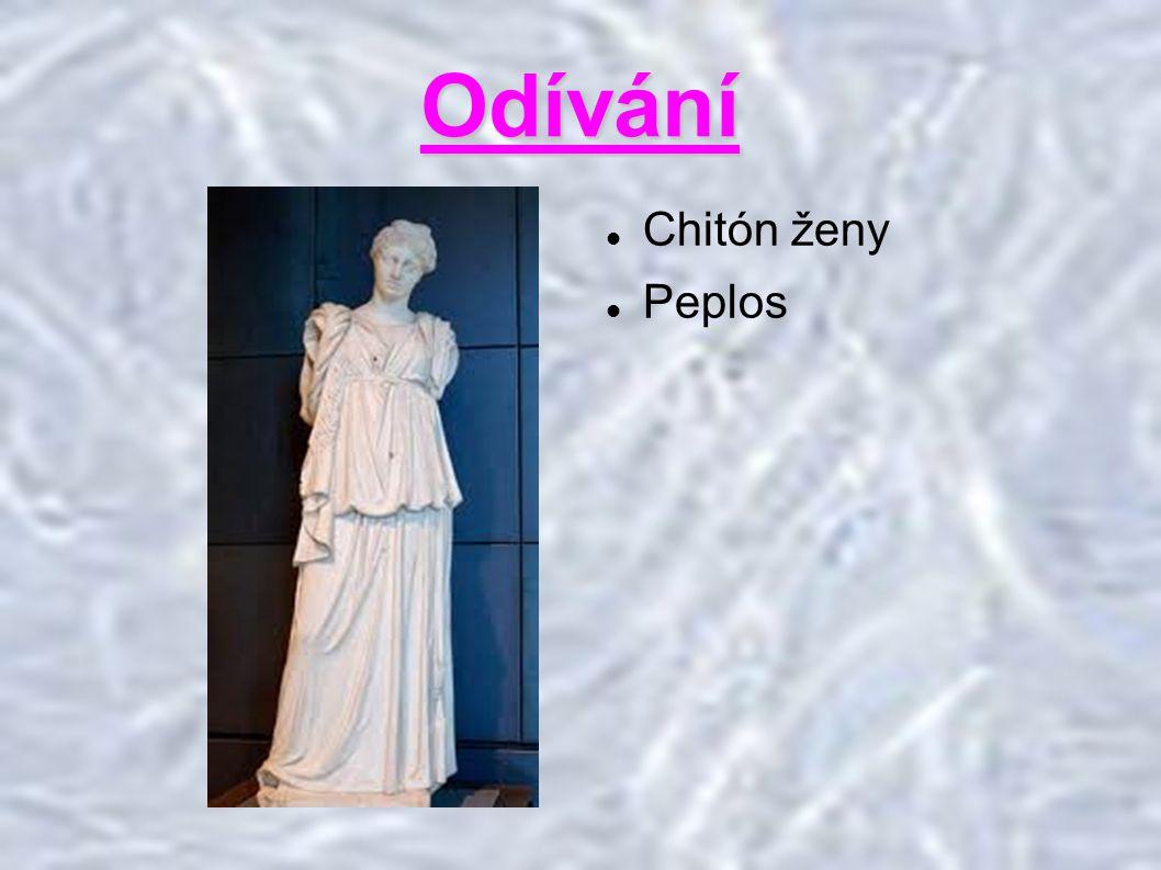 Odívání Chitón ženy Peplos