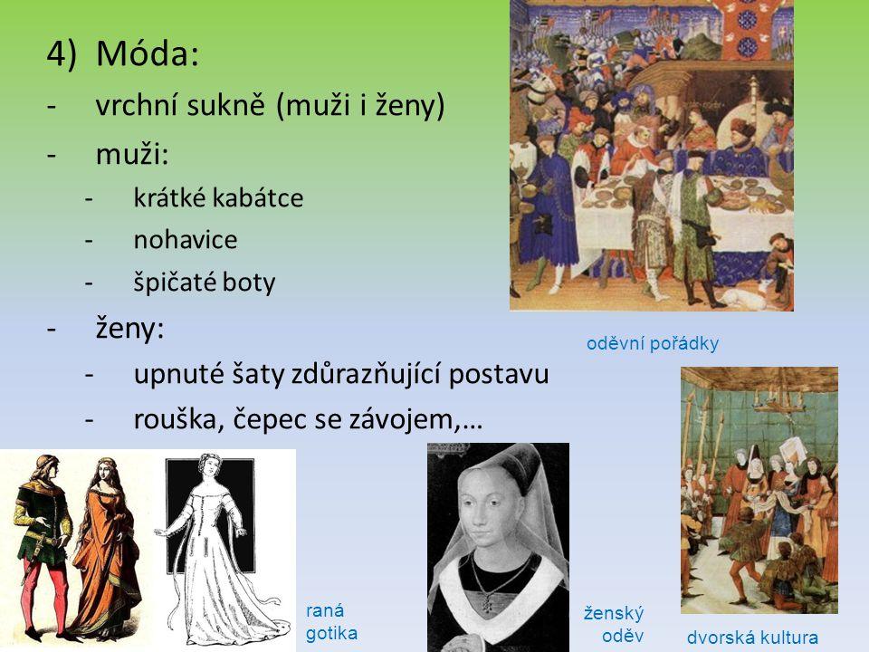 Móda: vrchní sukně (muži i ženy) muži: ženy: