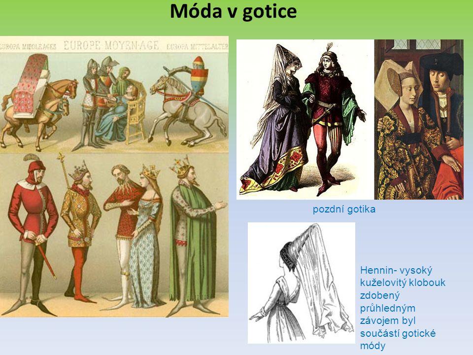 Móda v gotice pozdní gotika