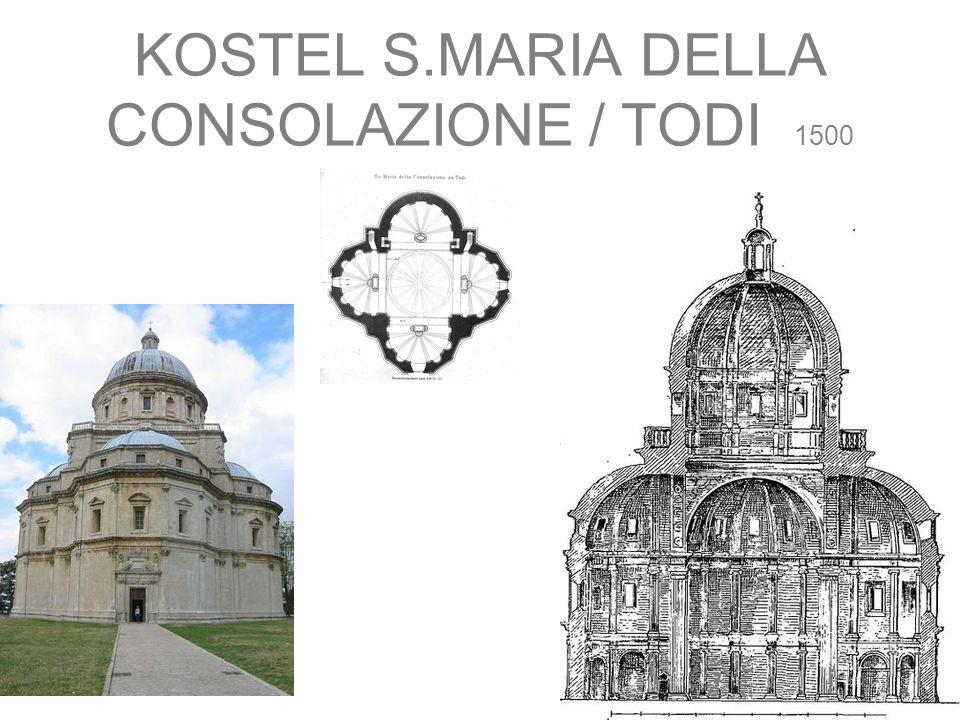KOSTEL S.MARIA DELLA CONSOLAZIONE / TODI 1500
