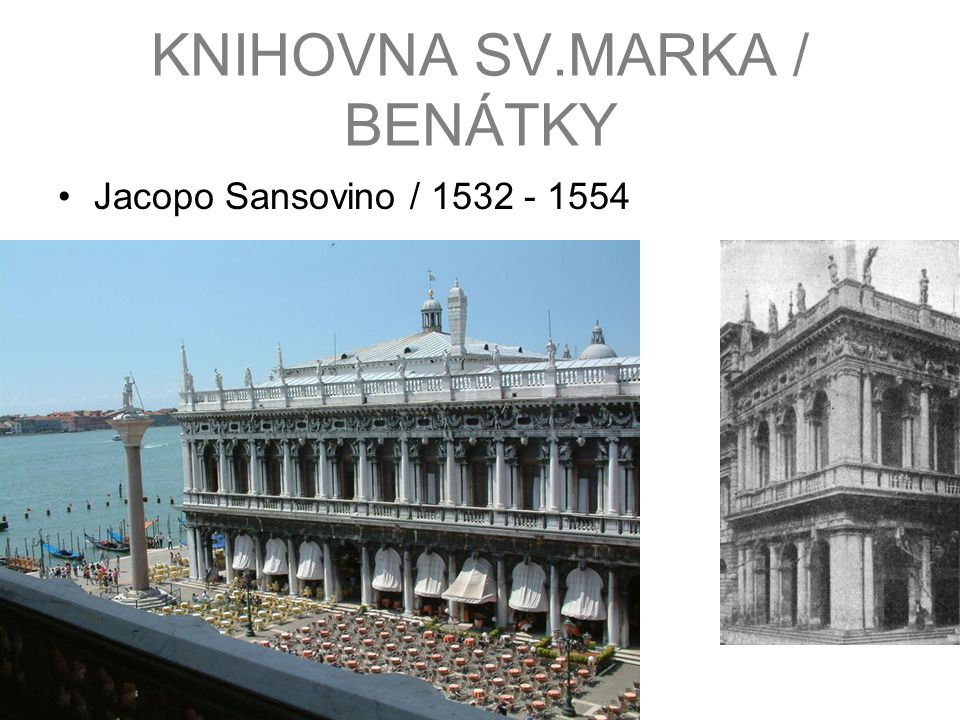 KNIHOVNA SV.MARKA / BENÁTKY