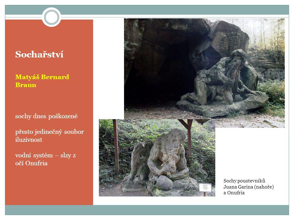 Sochařství Matyáš Bernard Braun sochy dnes poškozené