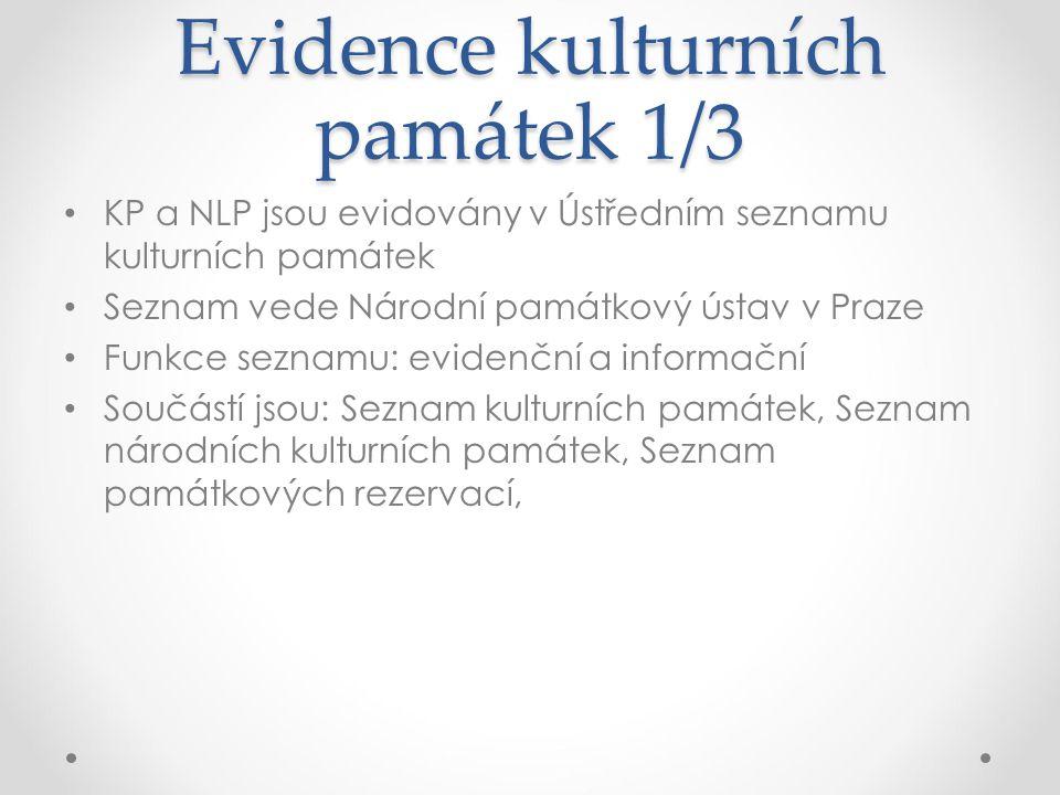 Evidence kulturních památek 1/3