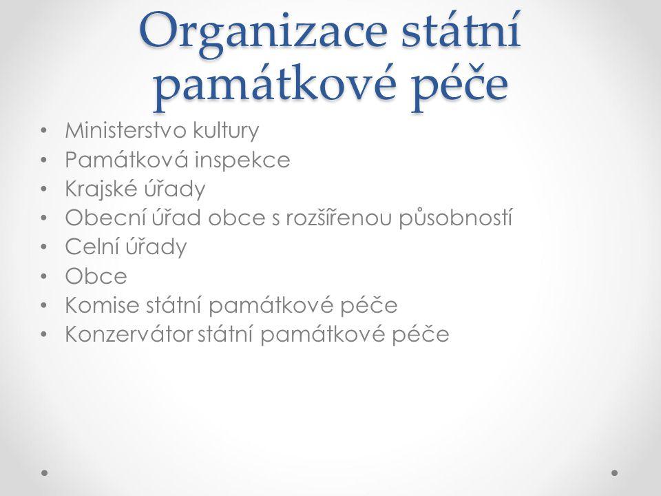 Organizace státní památkové péče