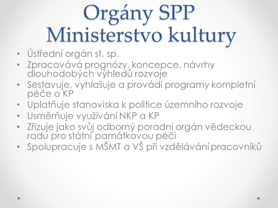 Orgány SPP Ministerstvo kultury