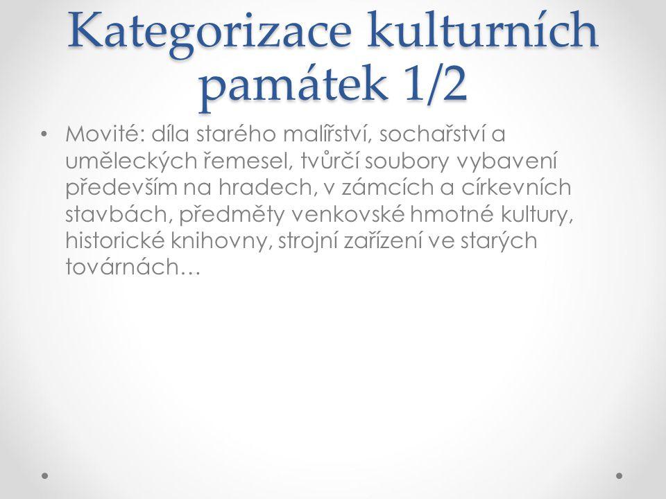 Kategorizace kulturních památek 1/2