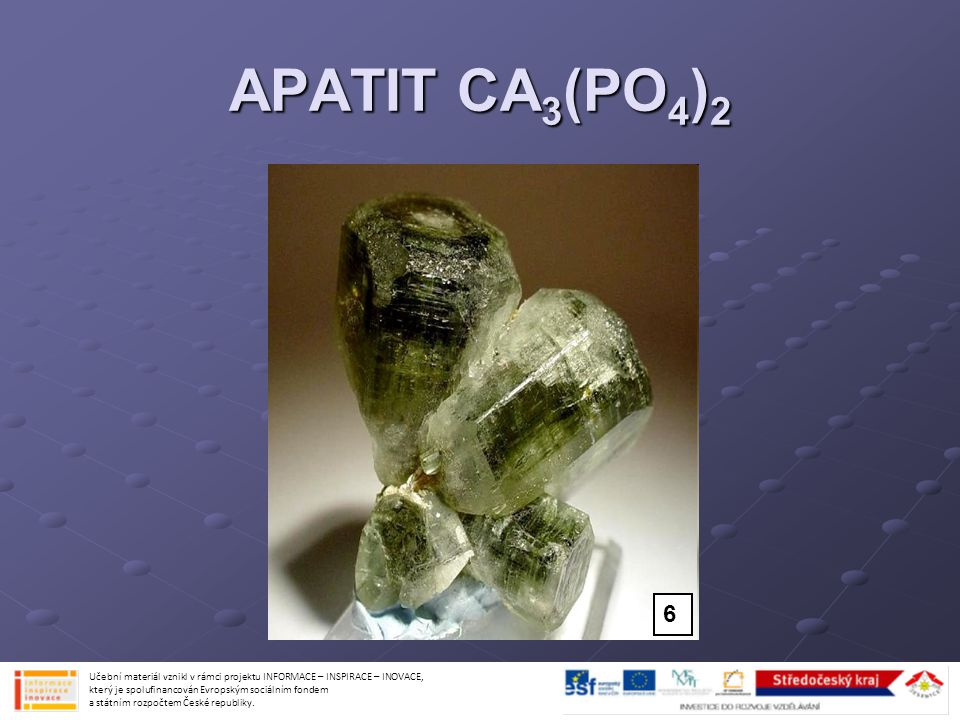 APATIT CA3(PO4)2 6.