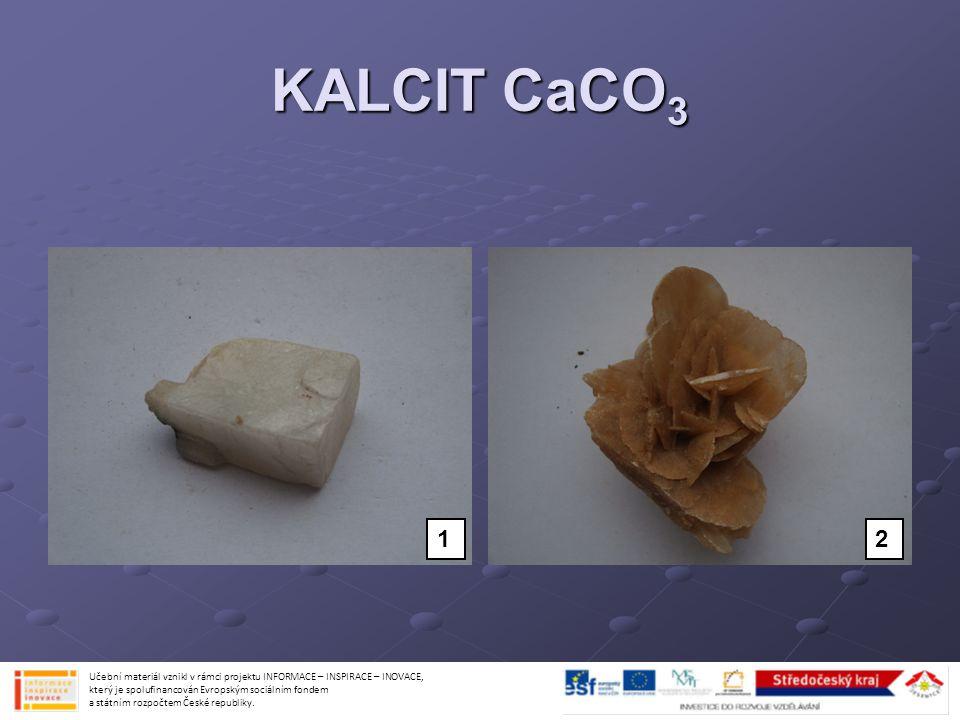 KALCIT CaCO3 1. 2.