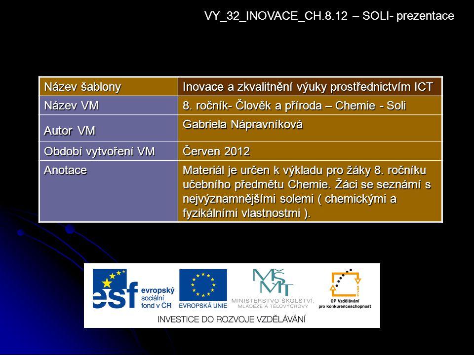 VY_32_INOVACE_CH.8.12 – SOLI- prezentace