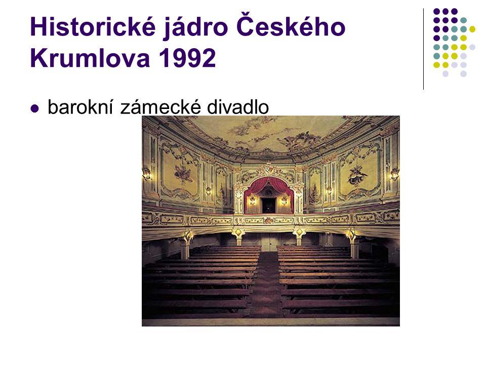Historické jádro Českého Krumlova 1992