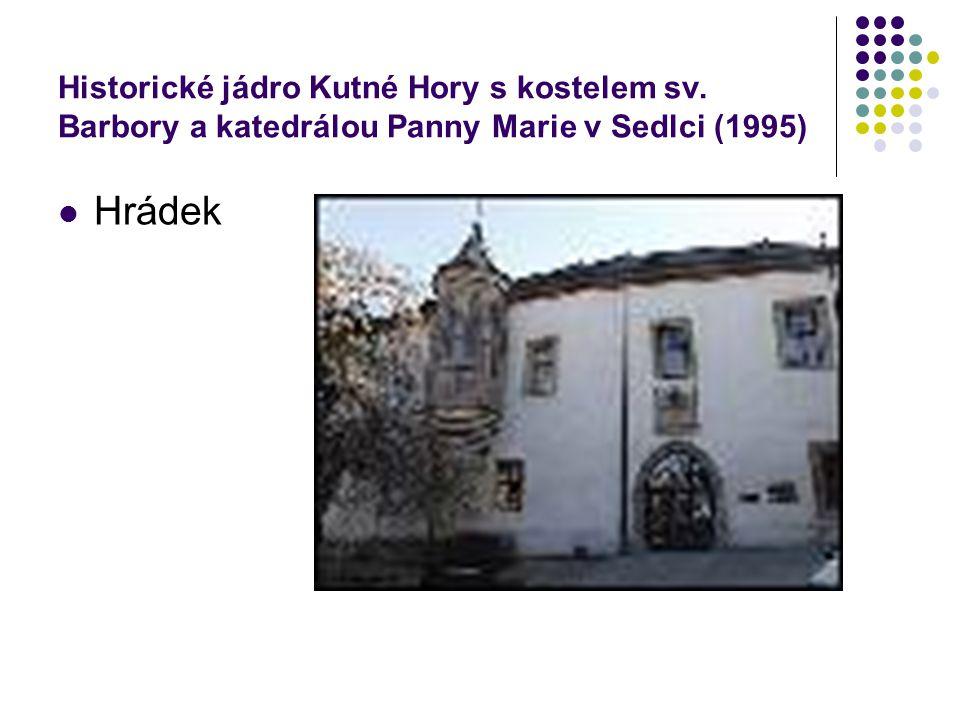 Historické jádro Kutné Hory s kostelem sv