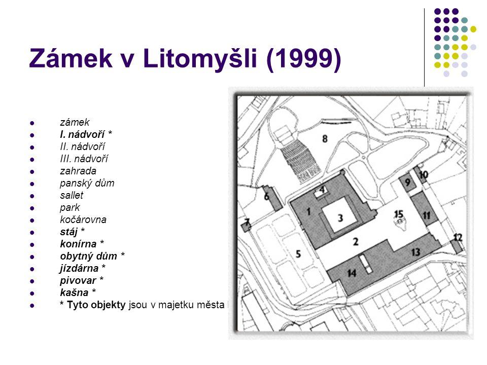 Zámek v Litomyšli (1999) zámek I. nádvoří * II. nádvoří III. nádvoří