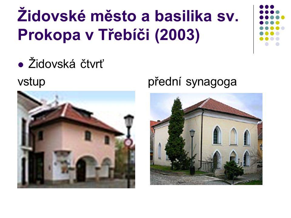 Židovské město a basilika sv. Prokopa v Třebíči (2003)