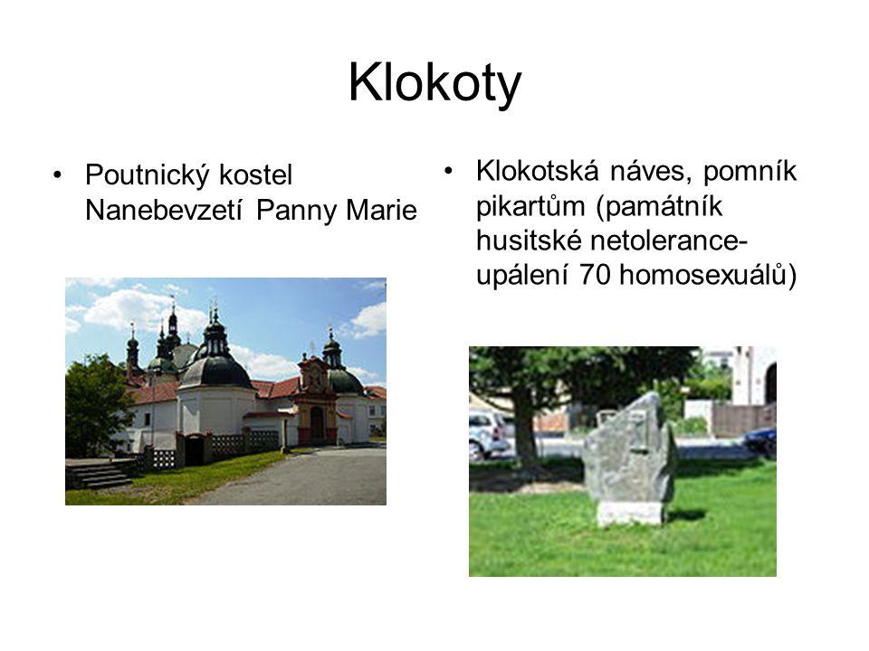 Klokoty Poutnický kostel Nanebevzetí Panny Marie.