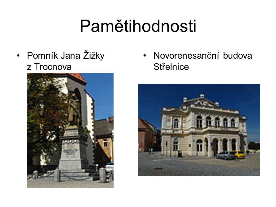 Pamětihodnosti Pomník Jana Žižky z Trocnova