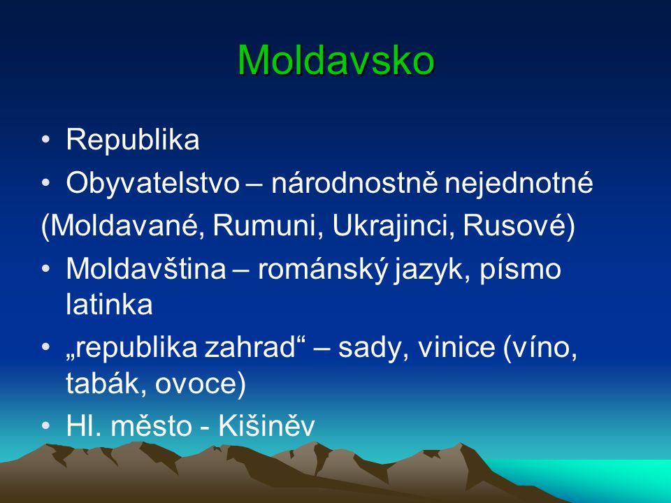 Moldavsko Republika Obyvatelstvo – národnostně nejednotné