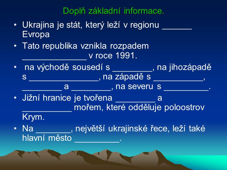 Doplň základní informace.