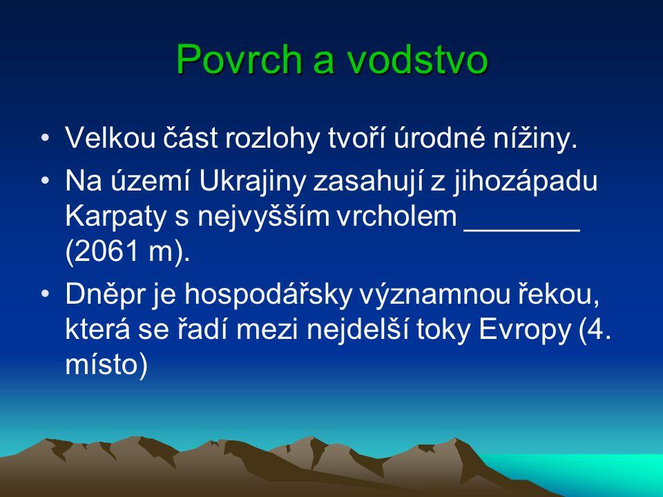 Povrch a vodstvo Velkou část rozlohy tvoří úrodné nížiny.