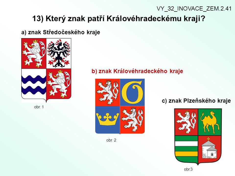 13) Který znak patří Královéhradeckému kraji