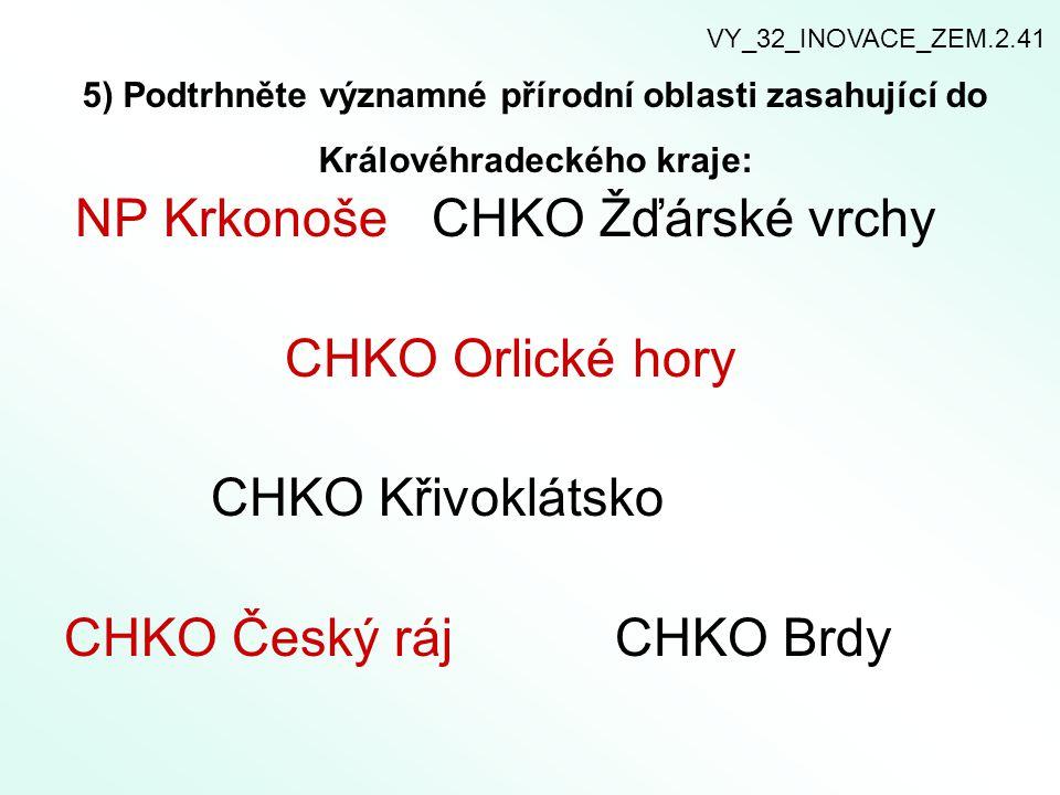 CHKO Český ráj CHKO Brdy