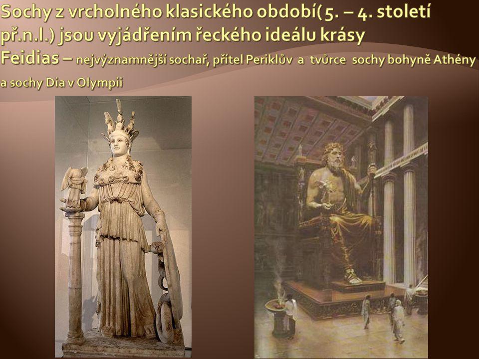 Sochy z vrcholného klasického období( 5. – 4. století př. n. l