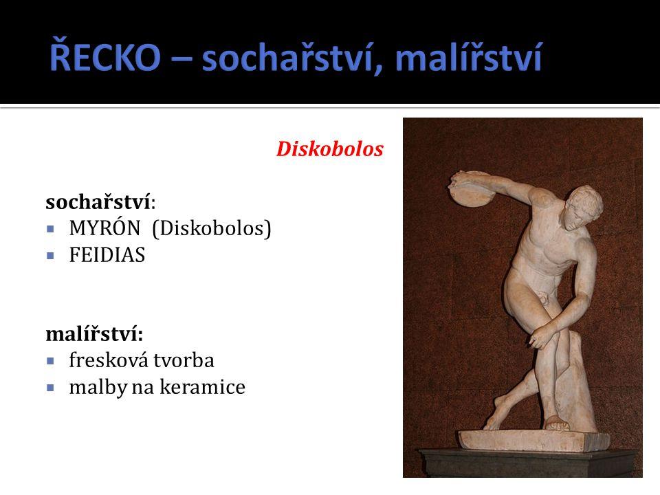 ŘECKO – sochařství, malířství